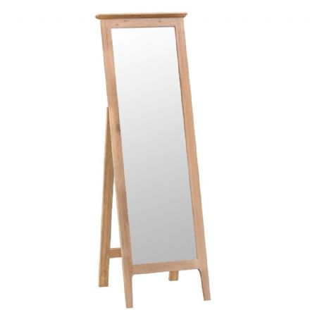 Newhaven Oak  Cheval Mirror